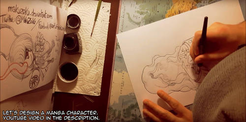 VIDEO - Let's design a manga character by MaKuZoKu