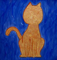 Faceless Cat by jenniferhl72