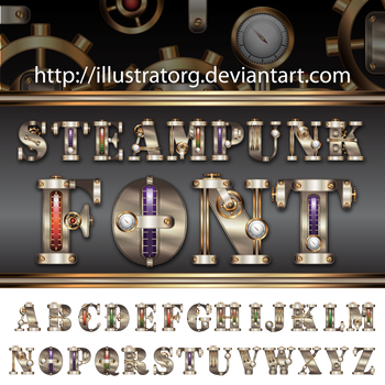 Steampunk FONT V2 by IllustratorG