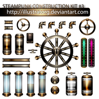 STEAMPUNK CONSTRUCTION KIT 3 by IllustratorG