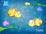 Romantic Bees by Tooshtoosh
