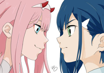 Zero Two VS Ichigo - Darling in the FranXX by robepate