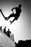 Jump halfe pipe by LucienWittwer