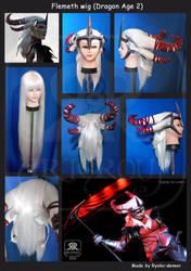 Flemeth wig (Dragon Age 2) by Ryoko-demon