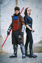 Gambit and Rogue by Ryoko-demon