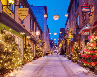 Quebec City - Petit Champlain - Christmas - 04 by GiardQatar