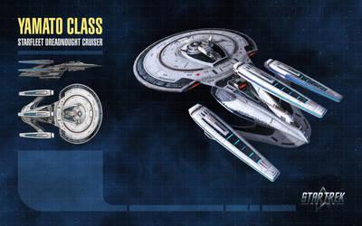 Yamato Class Starship for Star Trek Online by thomasthecat