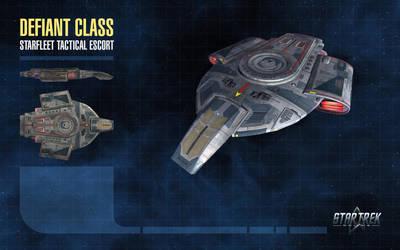 Defiant Class Starship for Star Trek Online by thomasthecat