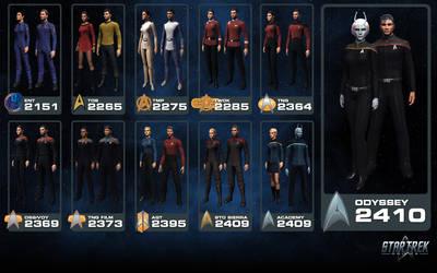 Star Trek Online - Starfleet Uniform Heritage by thomasthecat