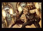 Steampunk Nicolai and Viktor by YoshiyukiKatana