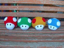 Mario Mushrooms by W0IfDreamer