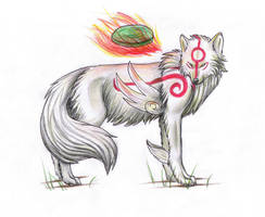 Okami Amaterasu by global-wolf