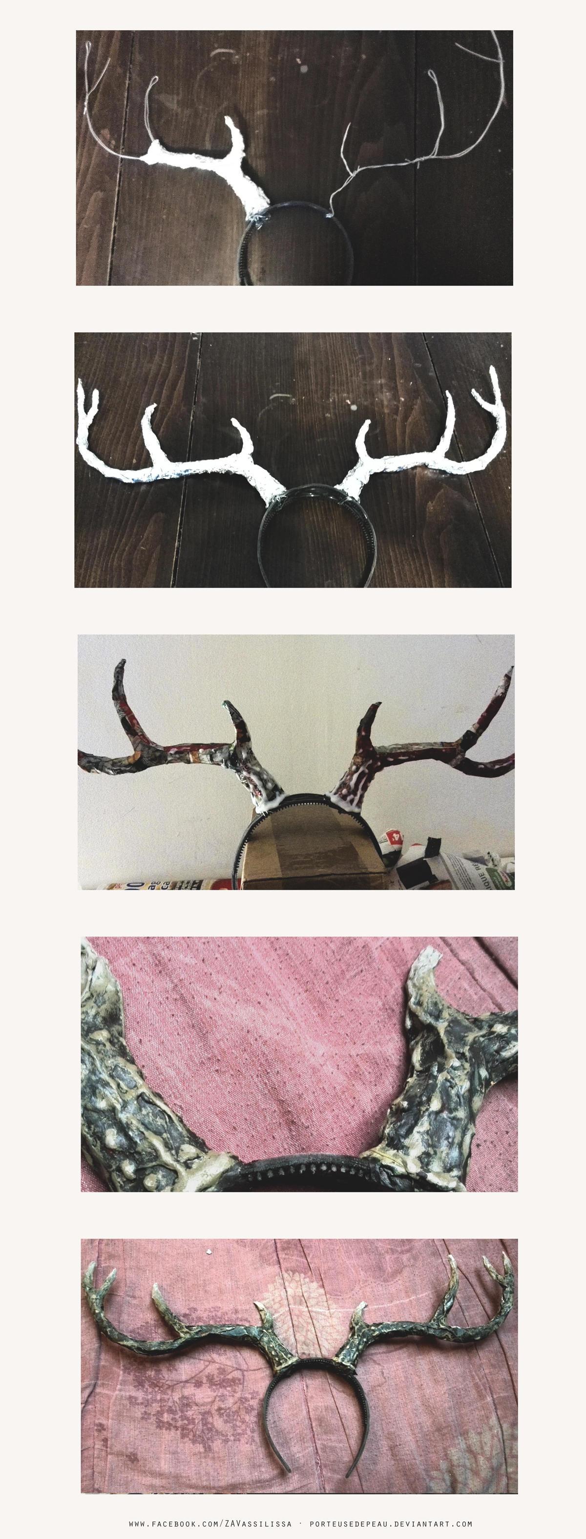 DIY Deer antlers {Step by step} by PorteuseDePeau