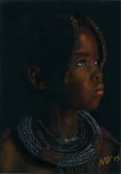Young Himba Girl by NoraJacksonArt