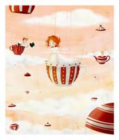 tea party in the sky by cocinando-colores