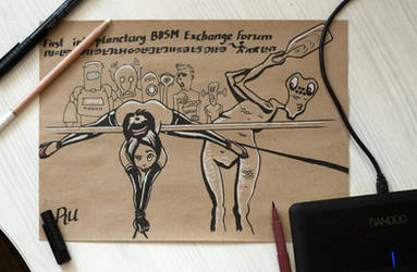 Interplanetary BDSM forum traditional commission by rumataestorian