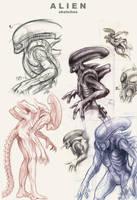 Alien sketchdump by Deimos-Remus