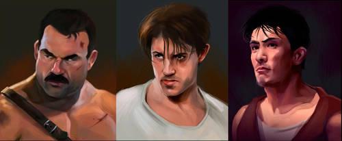 Final Fight portraits pt1 by Deimos-Remus
