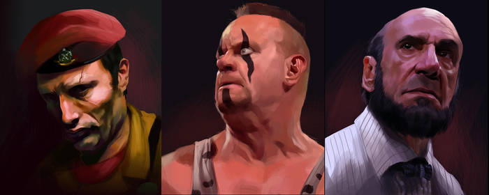 Final Fight Portraits pt5 by Deimos-Remus
