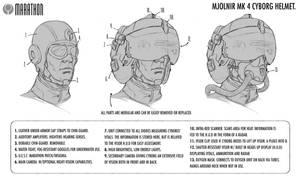 Marathon: Mjolnir MK 4 Cyborg Helmet by Deimos-Remus