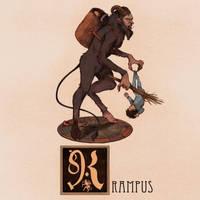 K is for Krampus by Deimos-Remus
