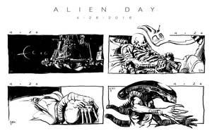 Alien Day sketches by Deimos-Remus