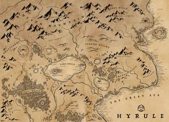 LOZ Redux: Hyrule Map by Deimos-Remus