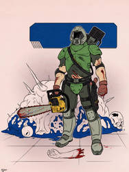 DOOM: The Marine by Deimos-Remus