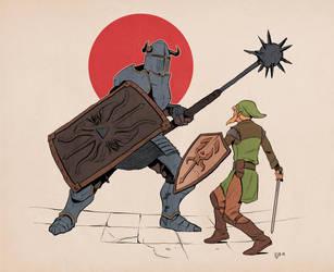 Link's Blacklist: Iron Knuckle by Deimos-Remus