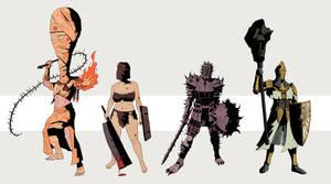 Dark Souls: Black Phantom Invaders by Deimos-Remus