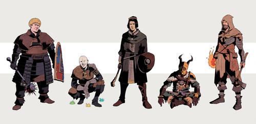 Dark Souls: Firelink Denizens 1 by Deimos-Remus