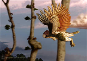 Rufous-winged harpya by Leaubellon