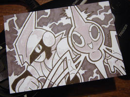 POKEDDEX Day 8 Ghost - Rotom by Gryphon-HB