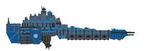 Warhammer 40K Space Marine Battle Barge by Seeras