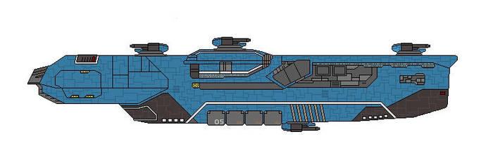 Homeworld Hiigaran Destroyer by Seeras