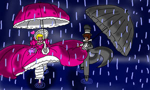 Elizabeth and Oliver in the Rain by Aquateen510