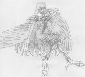 Harpy Lady Saber Bondage by Klaymoor