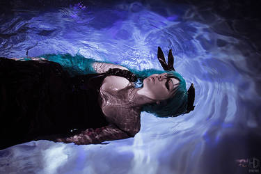 Miku Deep Sea Girl Cosplay by Bizarre-Deer