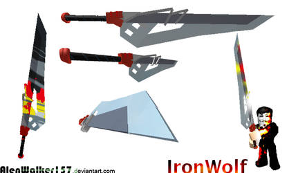 [ROBLOX Weapon Modeling] Iron_Wolf Number1 by AlenWalker157