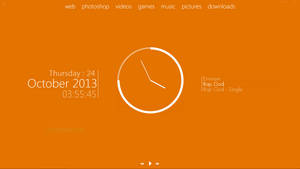 My desktop 2013-10-24 :: Plain Orange by wineass
