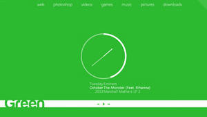 My desktop 2013-10-29 :: Green by wineass