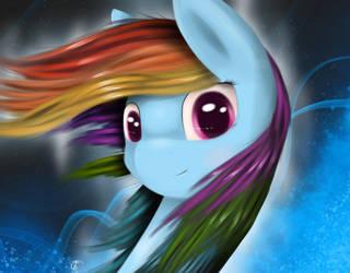 Fluffy Rainbow Hair by GromekTwist