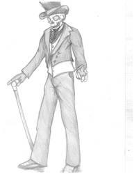 skull gentleman by Diabl0