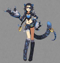 Blue Leopard by Yeale