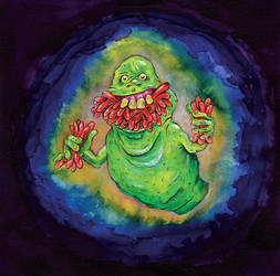 S for Slimer by oh-the-humanatee