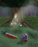 Link after a fight by mayu3