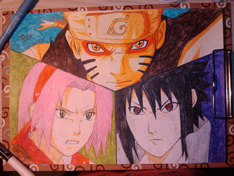 Naruto Shippuuden , team 7 by animedrawren
