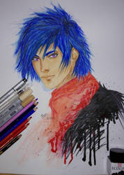 anime boy by animedrawren