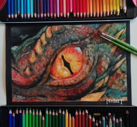dragon Smaug by animedrawren