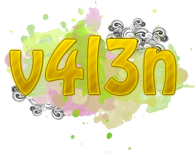 V4L3n Text PNG. by Sttefany